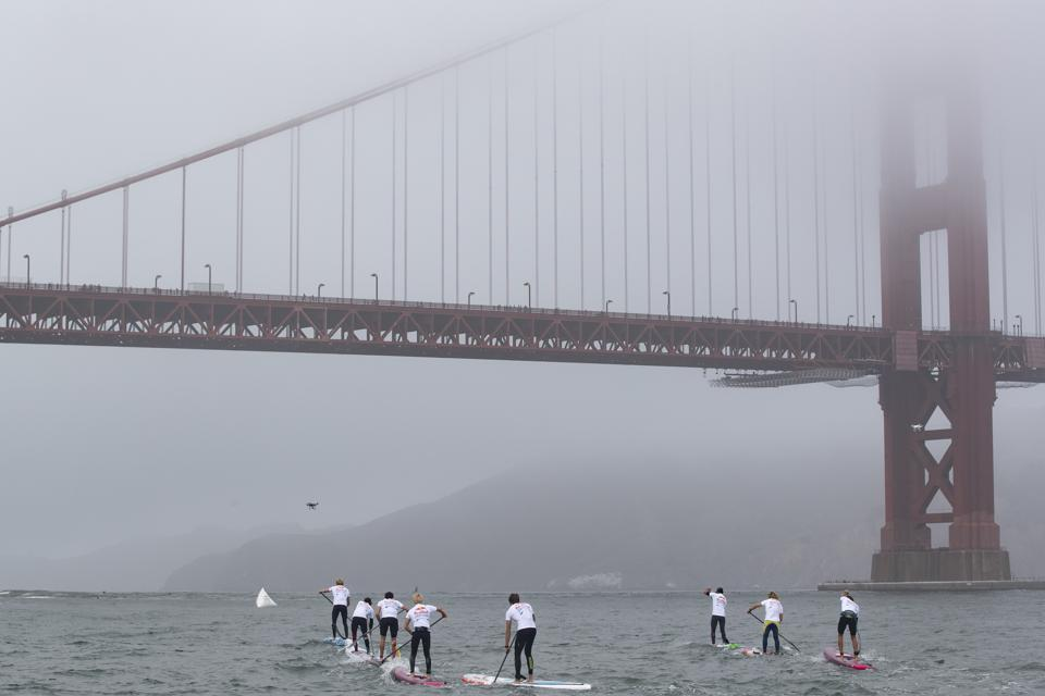 Golden Gate Bridge during the Red Bull Heavy Water