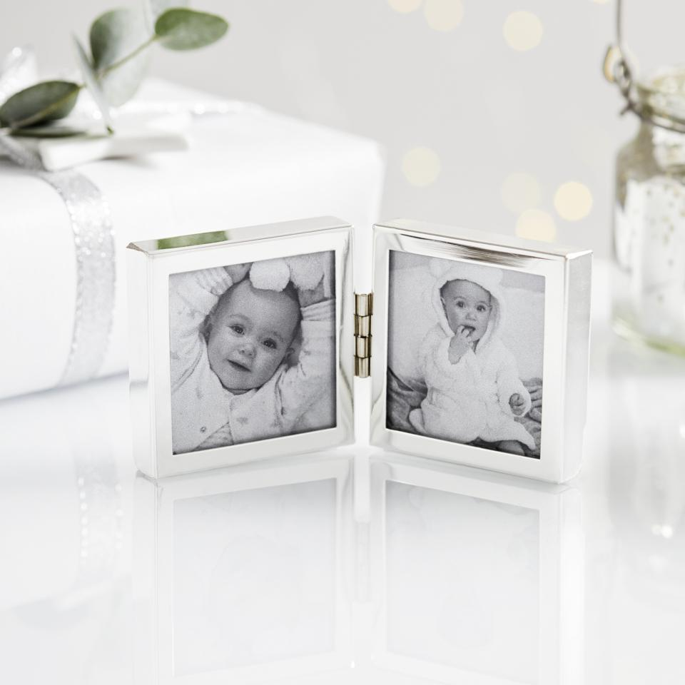 Silver picture frame by The White Company