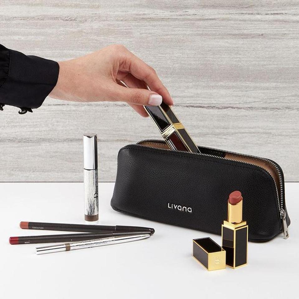 Livana Minimalist PerfectTemp Leather Cosmetic Case