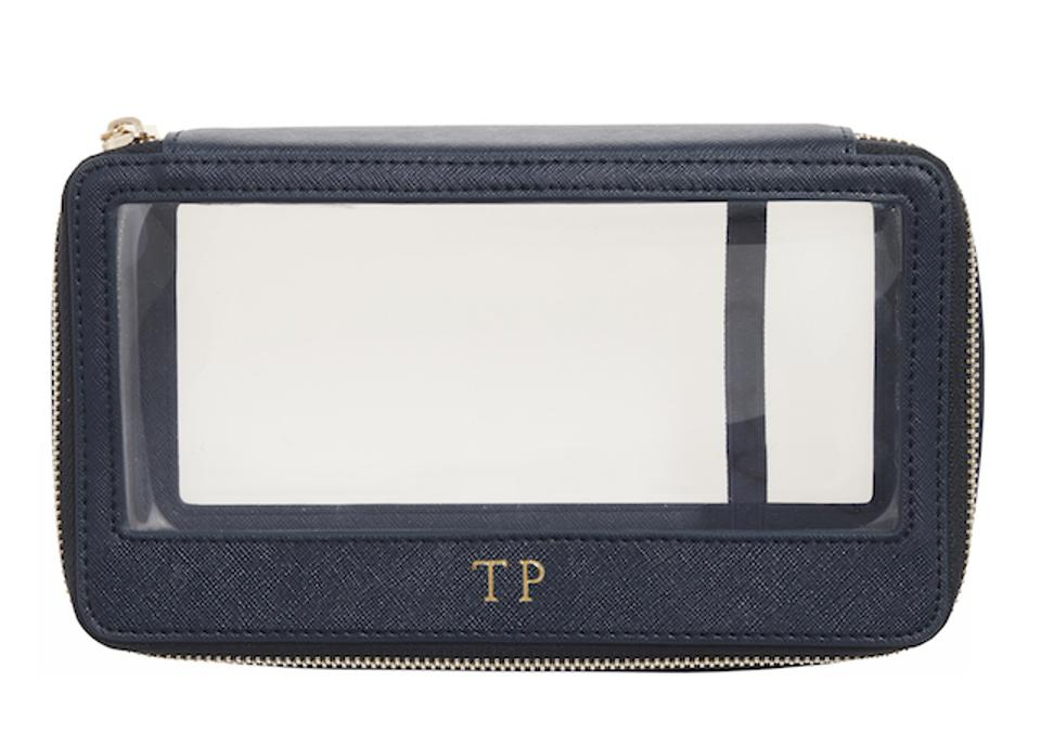 TDE Ink Navy Clear Cosmetic Case