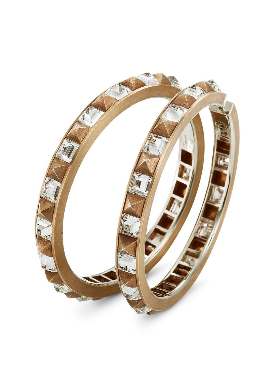 Natural diamond, bronze and white gold earrings by Munich-based heritage jeweler Hemmerle.