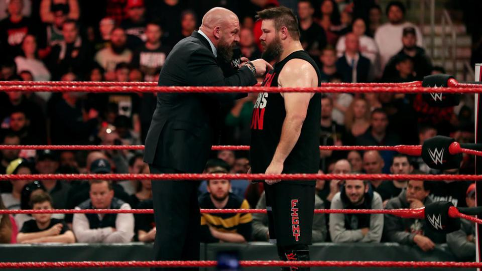 WWE Raw: Triple H and Kevin Owens