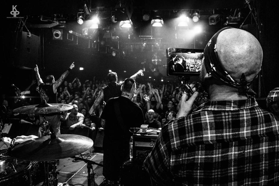 Director Ian McFarland filming The Godfathers of Hardcore AF live SO36
