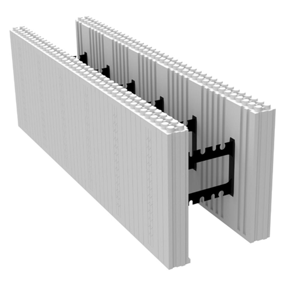 This is a typical ICF before it is installed. The width can vary depending on the application.