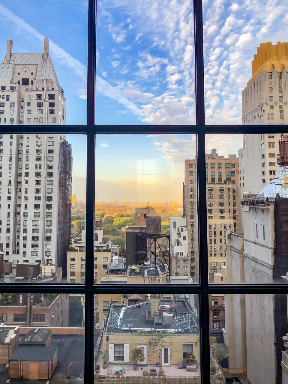 NEW YORK, NY - View from a suite in the Le Méridien Central Park