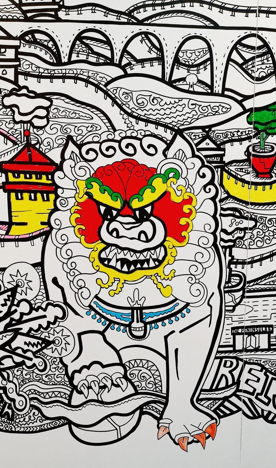 Great Coloring Wall by Max Goshko-Dankov at the Peninsula Art Gallery in Beijing