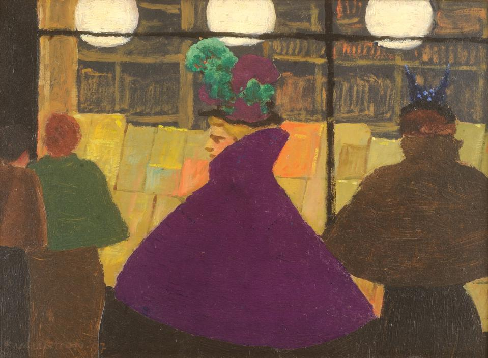Félix Vallotton, Passerby (Le passante), 1897, Oil on cardboard, 7 7/8 x 11 in., The Phillips Collection, promised gift of Vicki and Roger Santallotton_LaPasante.