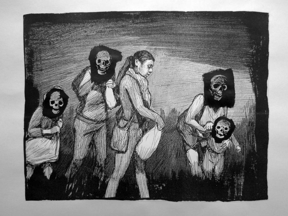 'A Portrait of Berenice Sarmiento Chávez.' Artist: Hugo Crosthwaite. Stop-motion drawing animation (3:12 min.) 2018.