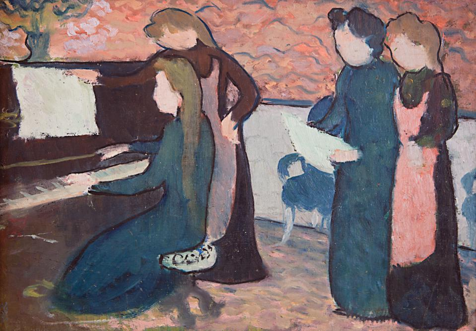 The Musicians (Les Musiciennes), c. 1895. Oil on cardboard 9 5/8x13 5/8 in.