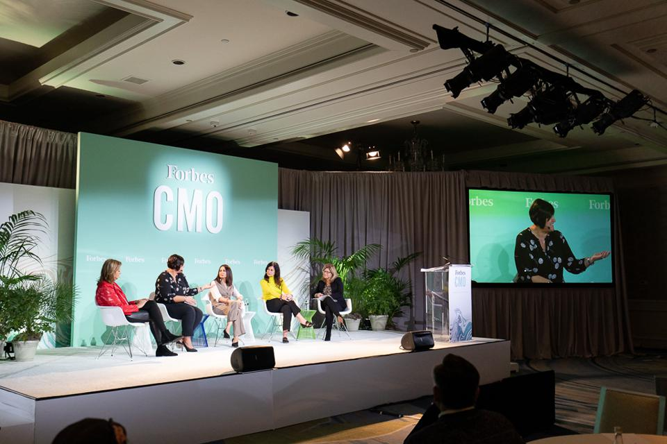 CMOs spoke on stage last week at the annual Forbes CMO Summit.