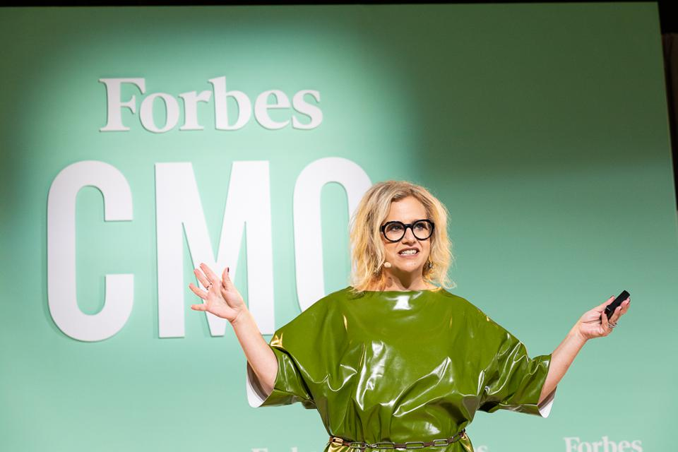 Former Taco Bell Chief Brand Officer Marisa Thalberg speaks at the Forbes CMO Summit.
