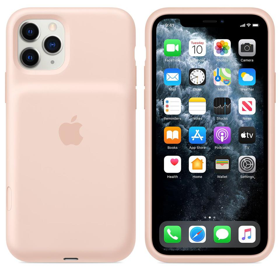 Pink Sand Apple Smart Battery Case with Wireless Charging for iPhone 11 Pro Max