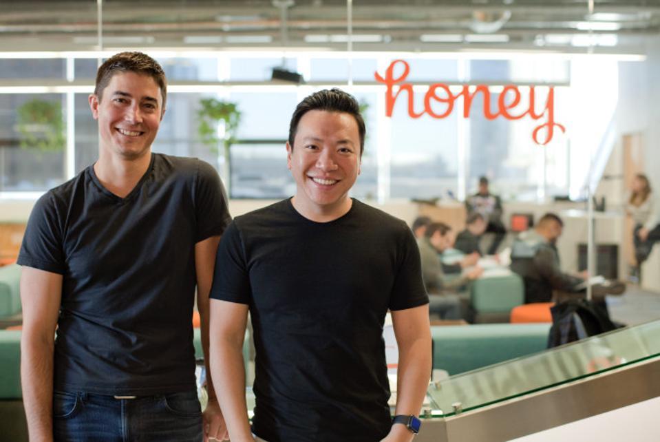 Honey cofounders Ryan Hudson and George Ruan.