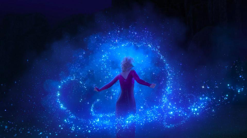 Elsa works her magic in Disney's ″Frozen 2″