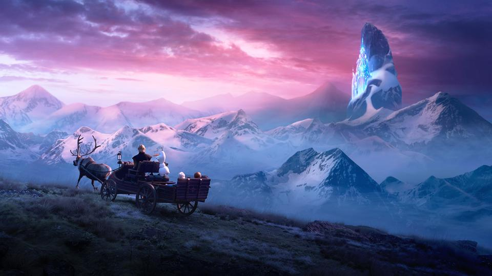 The whole gang riding in Disney's ″Frozen 2″