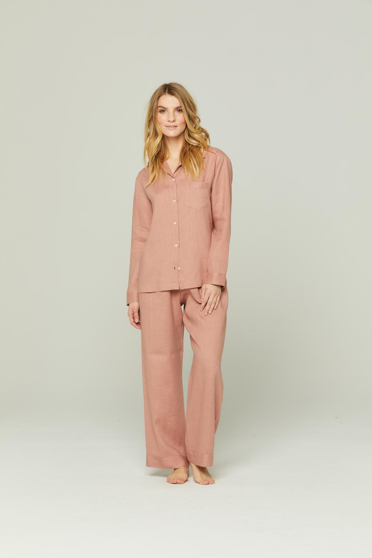 Blush Linen Pajamaa by Pour Les Femmes