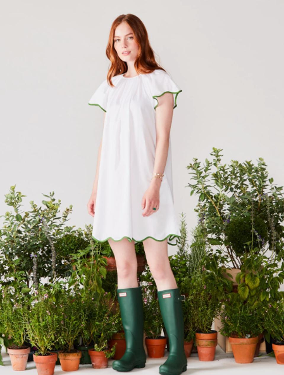 White Garden Dress by Lake Pajamas