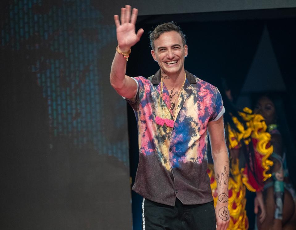 SprayGround founder David Ben David at the SprayGround fashion week show, held in Sept.