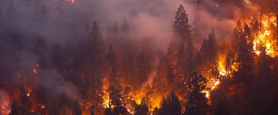 Record-breaking wildfires in California.