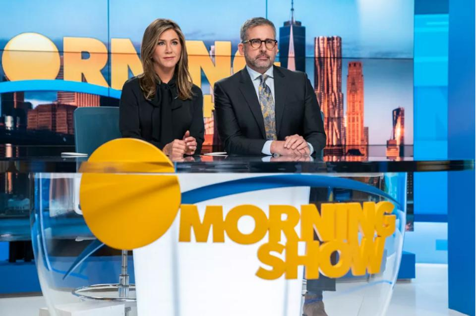 Jennifer Aniston and Steve Carell star in ″The Morning Show″ on Apple TV+.