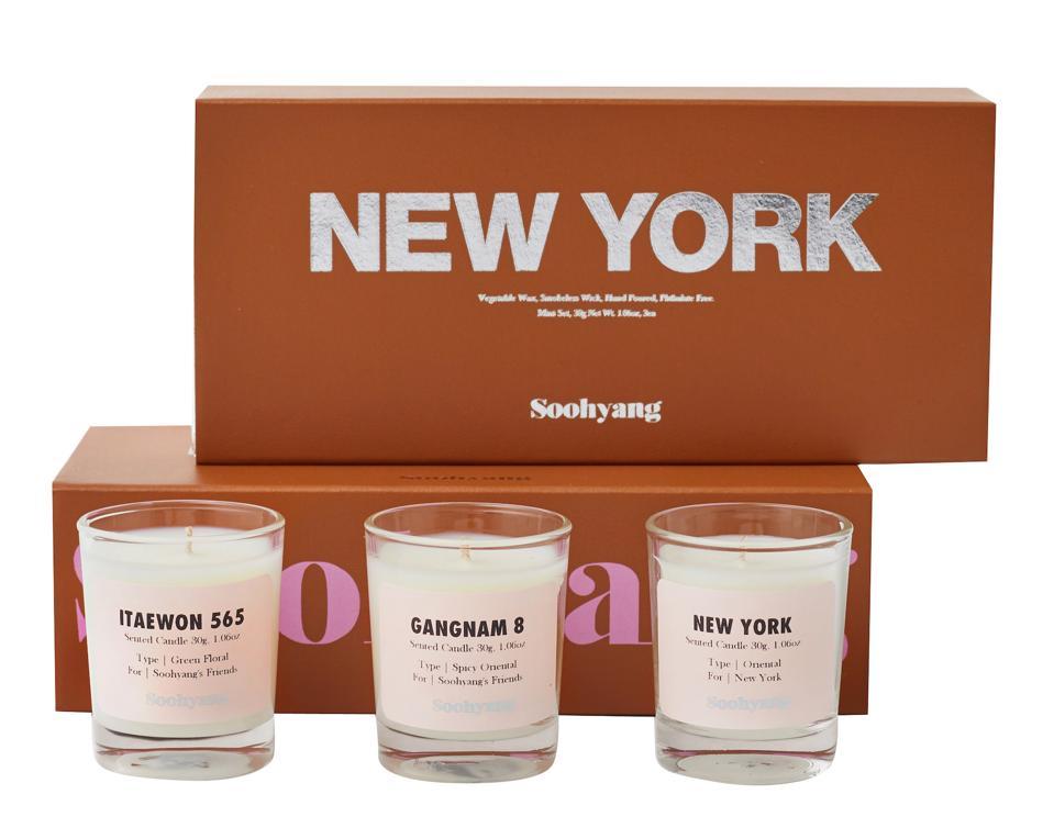 Soohyang mini candle votive travel set