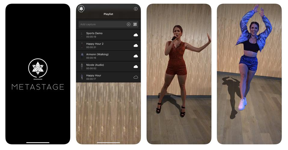 The Metastage AR app allows users to bring holograms into the real world