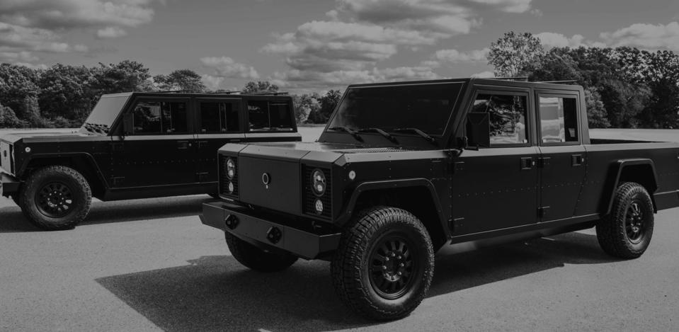 The Bollinger electric pick-up truck