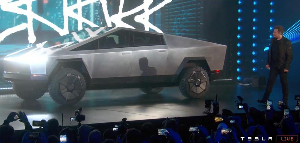 Elon Musk Reveals The Radical Tesla 'Cybertruck' Electric ...