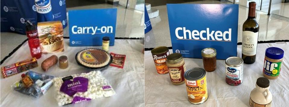 TSA Thanksgiving food items