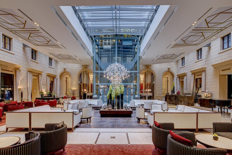 The lobby of the Palais Hansen Kempinski, Vienna