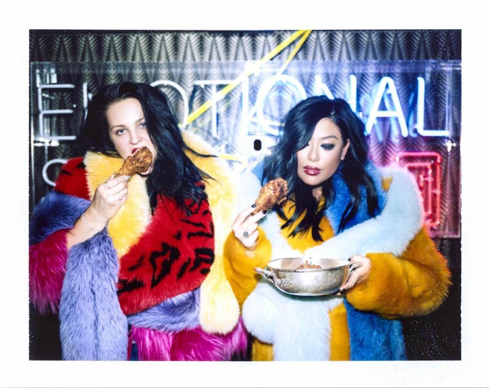Polaroid photo of Annebet Duvall and Angie Mar from ″Butcher + Beast″