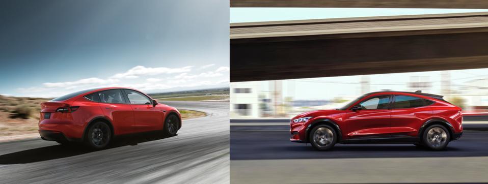 Tesla Model Y and Ford Mach-E