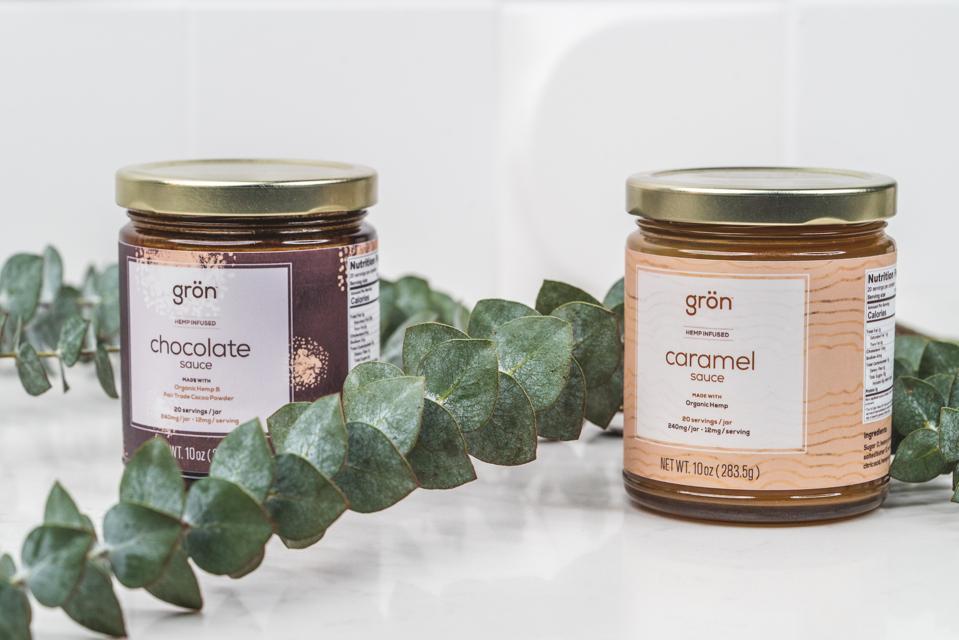 grön, grön CBD, cannabis-infused chocolate sauce, cannabis-infused caramel sauce, CBD gifts