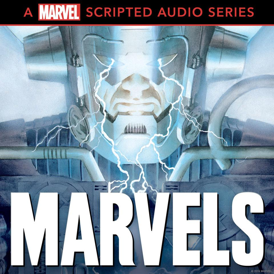 Galactus on the Marvels podcast logo