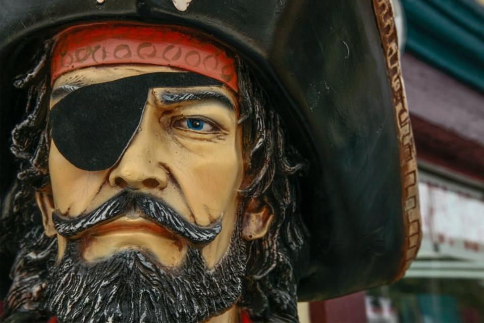 A pirate statue