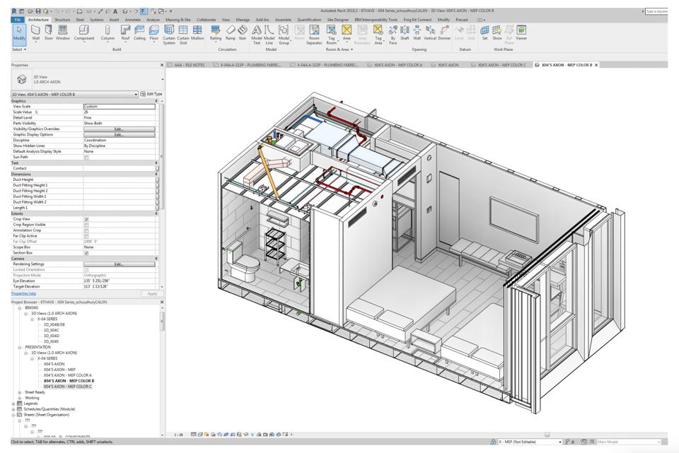 View of a module design via Autodesk software used by Skystone.