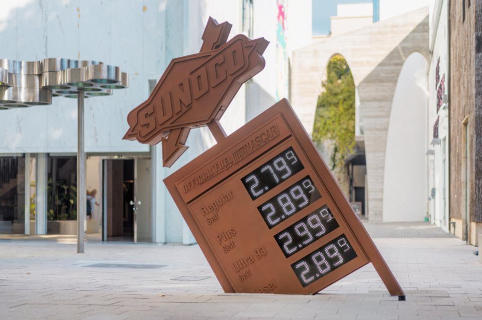 Virgil Abloh art installation in Miami Design District