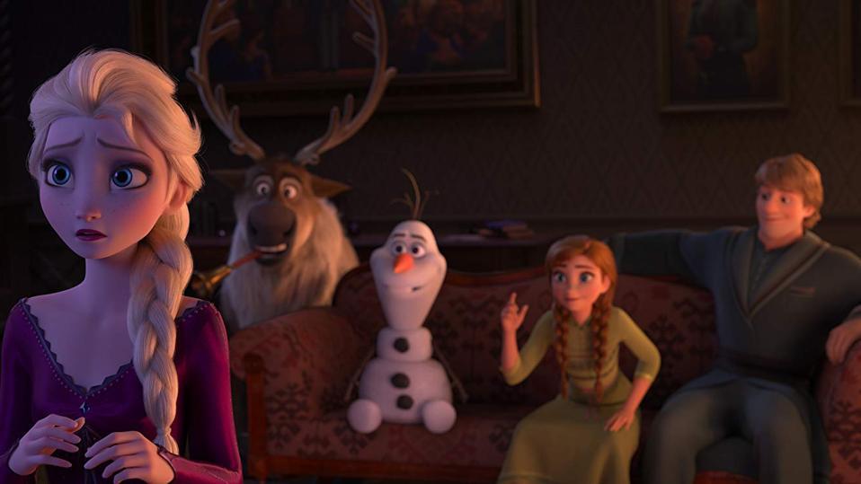 Kristen Bell, Idina Menzel, Josh Gad, and Jonathan Groff in Walt Disney's Frozen II