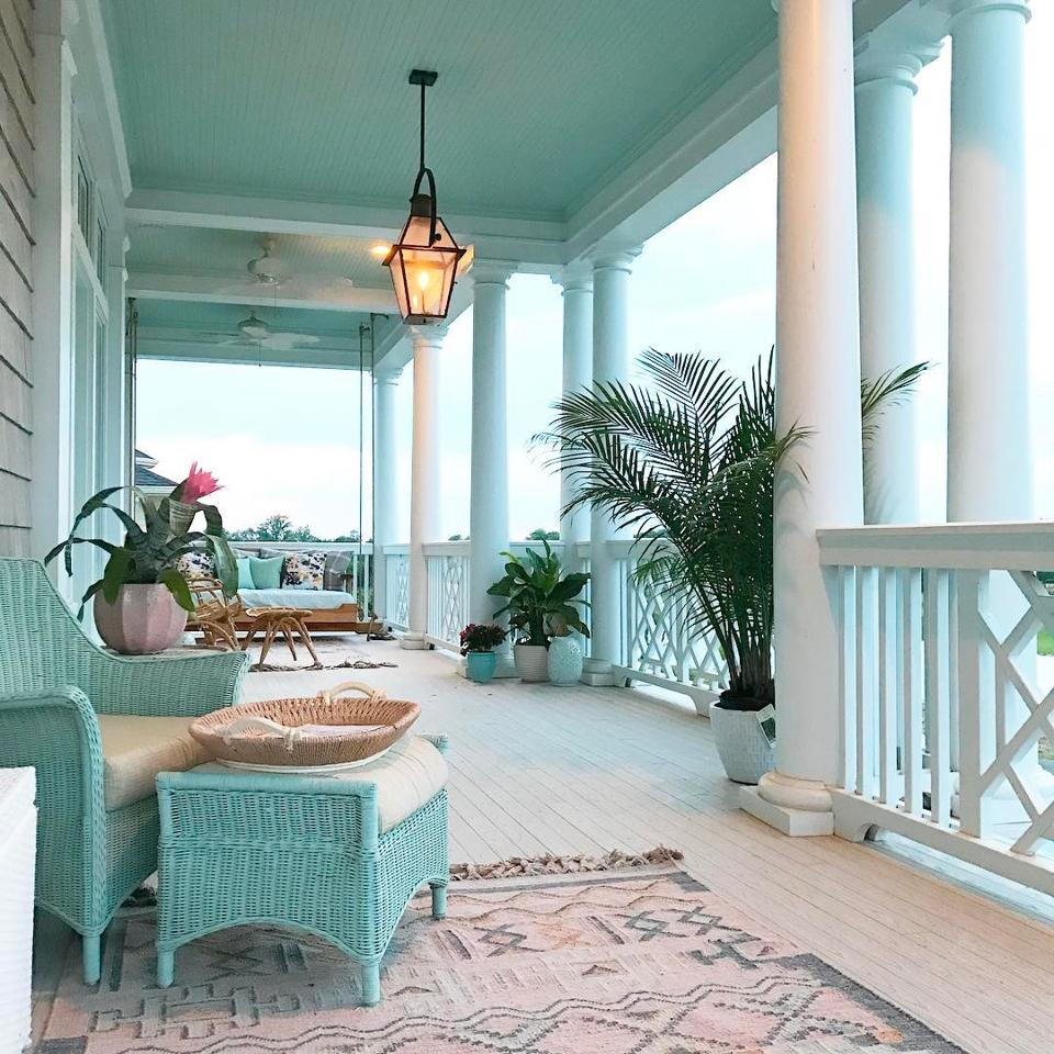 The Magical Quality Of Blue Porch Ceilings