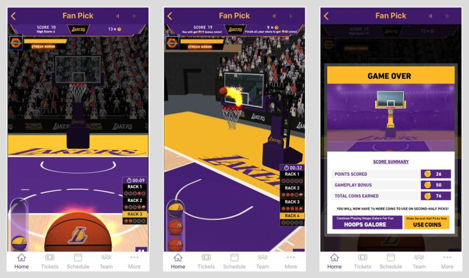 GTG Network and the Los Angeles Lakers have partnered in the creation of a prediction-based game in which fans can win prizes within the team's app.