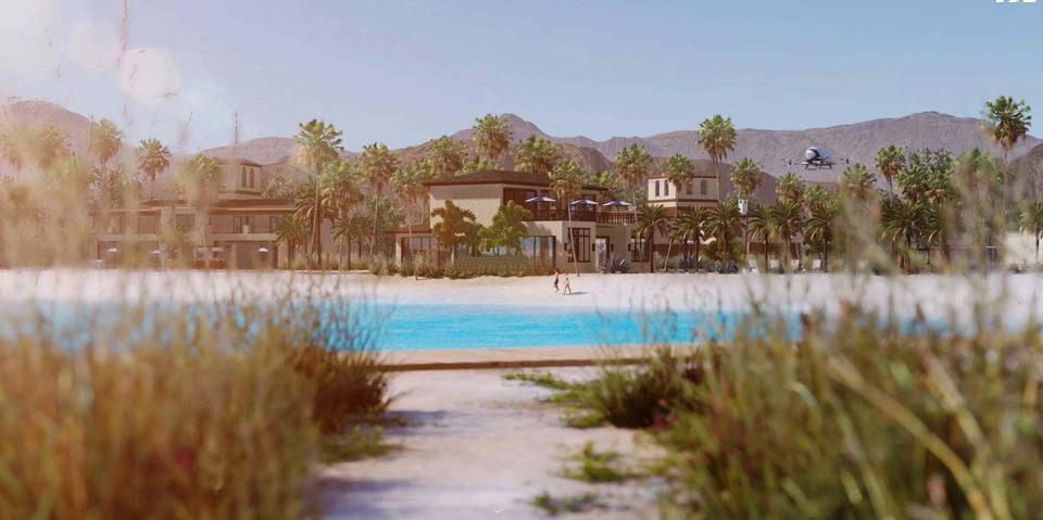 Waterfront Villa renderings at the Thermal Beach Club
