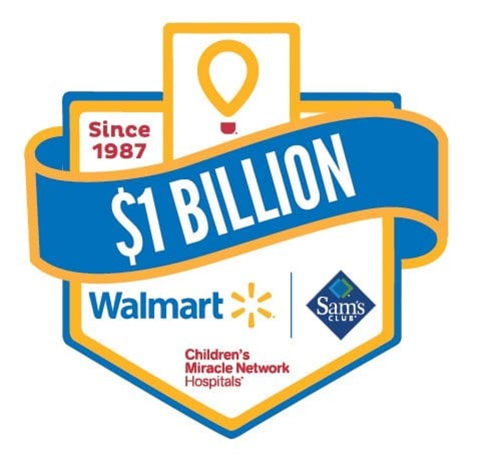 Walmart and Sam's Club billion dollar logo with CMN Hospitals