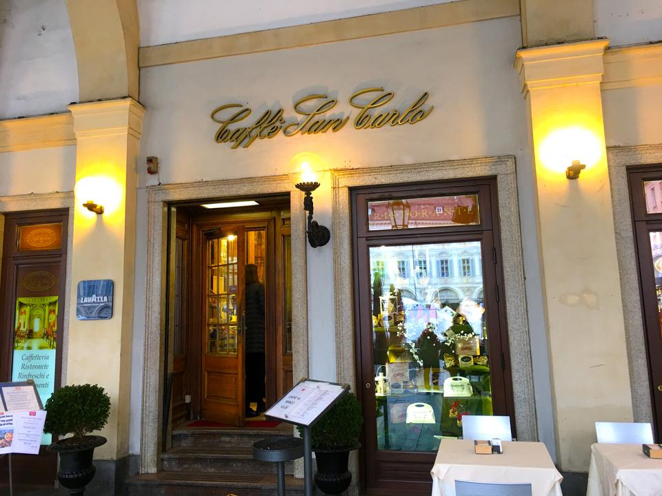 The Caffe San Carlo, one of the legendary stops in Turin.