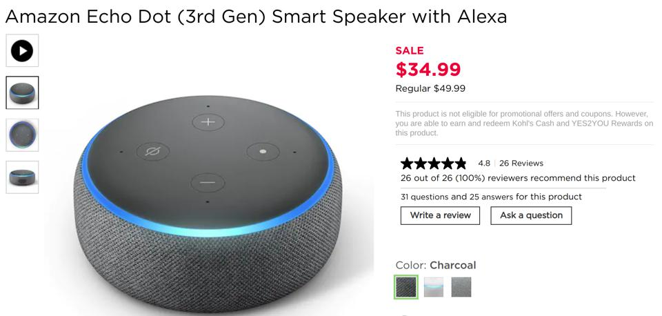 Kohl's Black Friday smart home sales, Kohl's Black Friday Alexa sales, Kohl's Black Friday Fitbit sales, Kohl's Black Friday Google Home sales,