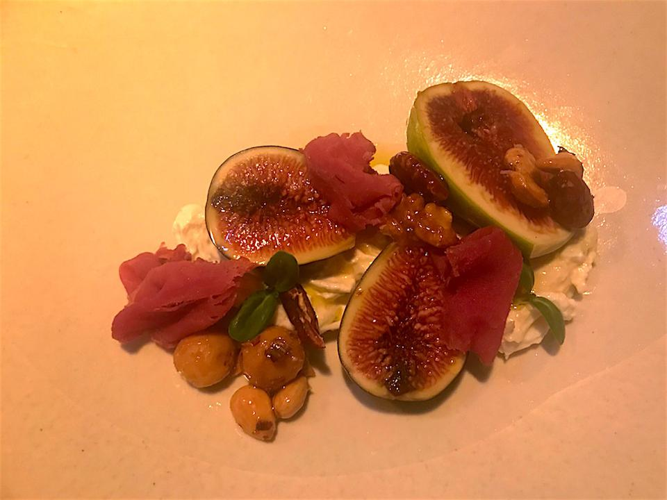 Figs and burrata at Labstelle, Vienna