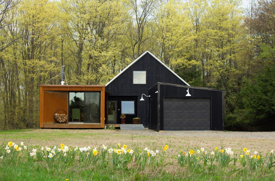A 1463 square foot modular home in Corning, N.Y. called the Wee Barn.