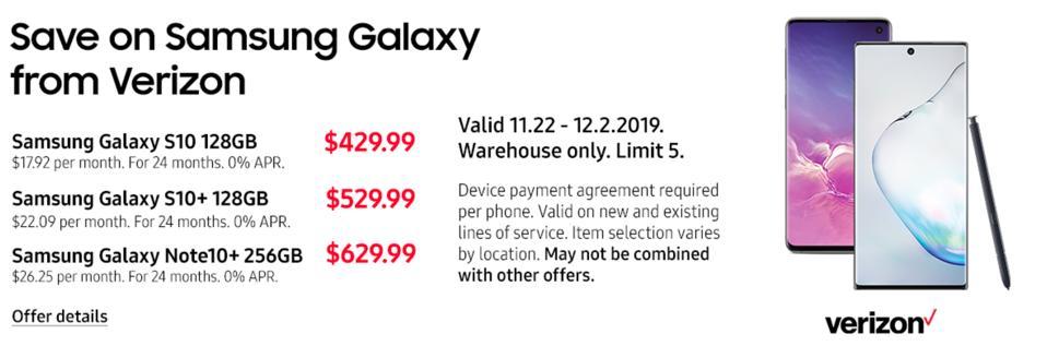 Black Friday Galaxy S10 deals, Black Friday Note 10 deals, Black Friday Galaxy smartphone sales,
