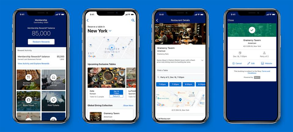 You Can Now Book Restaurants Through The American Express App