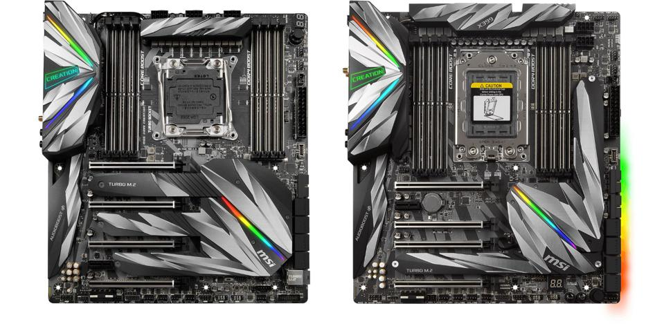 MSI-MEG-X299-Creation-and-X399-Creation-motherboards