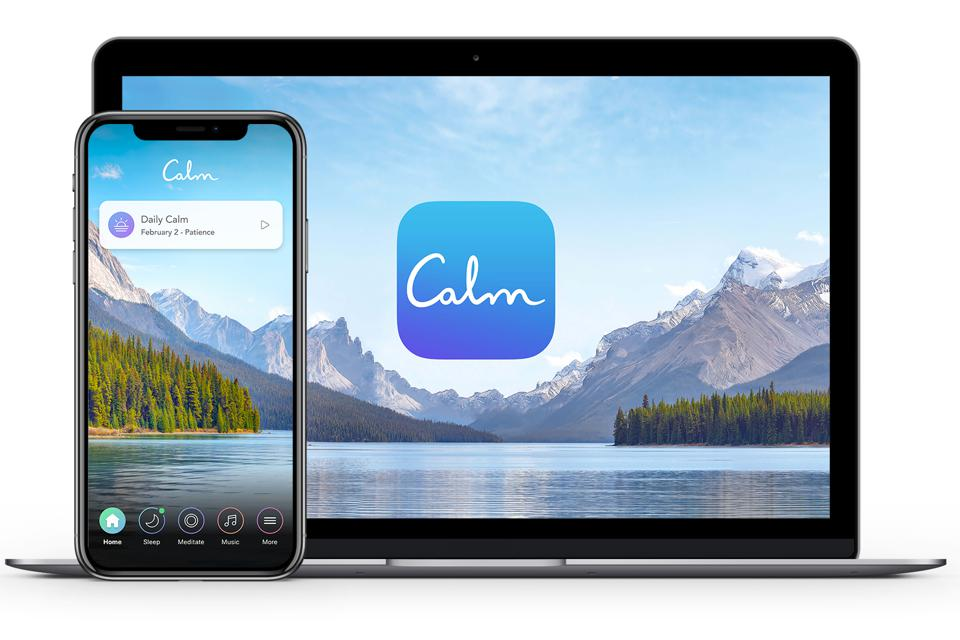 Relaxing gifts for travelers - Calm App